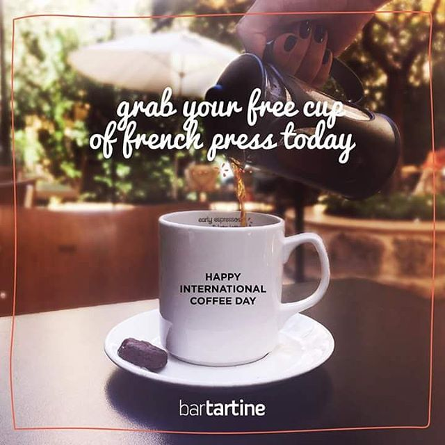 Free Cup of French Press Coffee