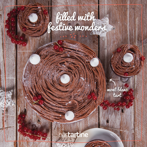 Filled with Festive Wonders: Mont Blanc Tart!