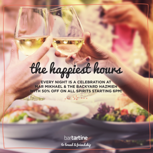 bartartine, happy hours, cocktails, spirits, drinks, night out