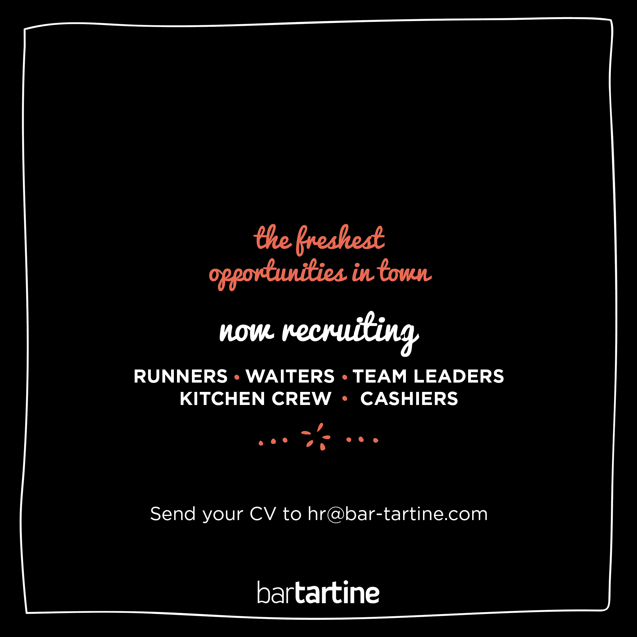 recruitment careers bartartine jobs